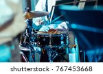 drums on stage. | Shutterstock . vector #767453668
