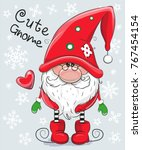 greeting christmas card cute...   Shutterstock .eps vector #767454154
