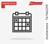 outline calendar icon isolated...
