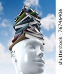 Stack of books. Knowledge Concept. - stock photo