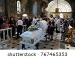 editorial use only. burial... | Shutterstock . vector #767465353