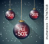 abstract christmas sale...   Shutterstock .eps vector #767467618