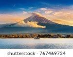 fuji mountain and kawaguchiko...   Shutterstock . vector #767469724
