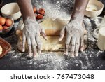 cropped shot of male s hands... | Shutterstock . vector #767473048