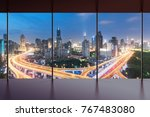 elevated view of a road... | Shutterstock . vector #767483080