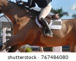 detail of a horse and rider... | Shutterstock . vector #767486080