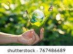 saving energy concept  earth...   Shutterstock . vector #767486689