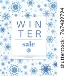 Winter Sale Banner. Blue...