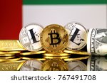 physical version of bitcoin ... | Shutterstock . vector #767491708