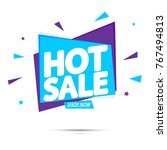 hot sale  banner design... | Shutterstock .eps vector #767494813