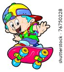 colorful kid   Shutterstock .eps vector #76750228