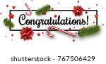 white congratulations christmas ... | Shutterstock .eps vector #767506429