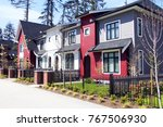 brand new upscale townhomes in... | Shutterstock . vector #767506930