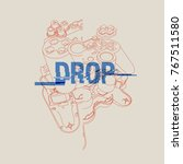 broken gamepad. drop text....   Shutterstock .eps vector #767511580