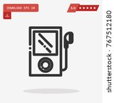 music player vector icon