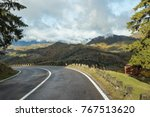the road is an early  rainy... | Shutterstock . vector #767513620