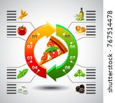 infographics arrows with... | Shutterstock .eps vector #767514478