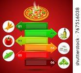 margarita pizza infographics... | Shutterstock .eps vector #767516038