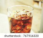 cola with ice cubes | Shutterstock . vector #767516320