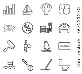 thin line icon set   graph ... | Shutterstock .eps vector #767521270