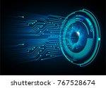 binary circuit board future... | Shutterstock .eps vector #767528674