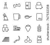 thin line icon set   dna modify ... | Shutterstock .eps vector #767532358