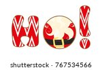 christmas icon. ho ho ho sign...   Shutterstock .eps vector #767534566