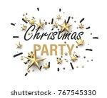 white christmas party... | Shutterstock .eps vector #767545330
