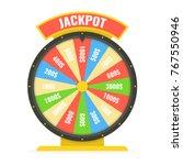 fortune wheel in flat style....   Shutterstock .eps vector #767550946