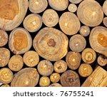 Background Of Dry Teak  Logs...