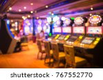 casino games at cruise liner | Shutterstock . vector #767552770