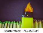 background with a burning...   Shutterstock . vector #767553034
