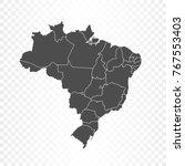 brazil map isolated on... | Shutterstock .eps vector #767553403