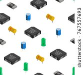 vector seamless pattern of... | Shutterstock .eps vector #767557693