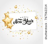 gold star happy new year | Shutterstock . vector #767562214