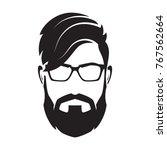 bearded man's face  hipster... | Shutterstock .eps vector #767562664