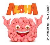 brain cartoon emoticon... | Shutterstock .eps vector #767565064