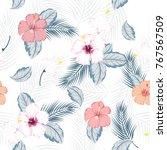 vector seamless beautiful... | Shutterstock .eps vector #767567509
