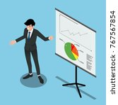 isometric 3d of a man... | Shutterstock .eps vector #767567854
