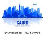 cairo  egypt  skyline... | Shutterstock .eps vector #767569996