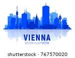 vienna   austria   skyline... | Shutterstock .eps vector #767570020