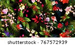 seamless background floral... | Shutterstock .eps vector #767572939
