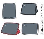 vector set of tablet cartoon | Shutterstock .eps vector #767575240