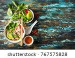 traditional vietnamese soup pho ...   Shutterstock . vector #767575828