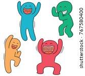 vector set of happy people | Shutterstock .eps vector #767580400