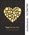 valentines day vector greeting... | Shutterstock .eps vector #767584789
