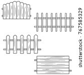 vector set of fence | Shutterstock .eps vector #767585329