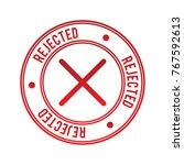 rejected vector stamp | Shutterstock .eps vector #767592613