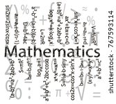 set of basic mathematical... | Shutterstock .eps vector #767593114