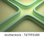 Abstract Curly Maze Road...